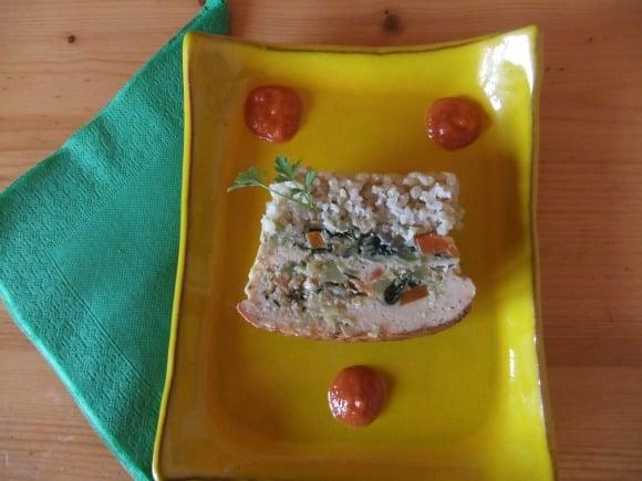 Receta de terrina de arroz integral y verduritas