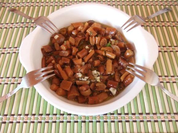 Receta de alga cochayuyo con ajo, limón y perejil