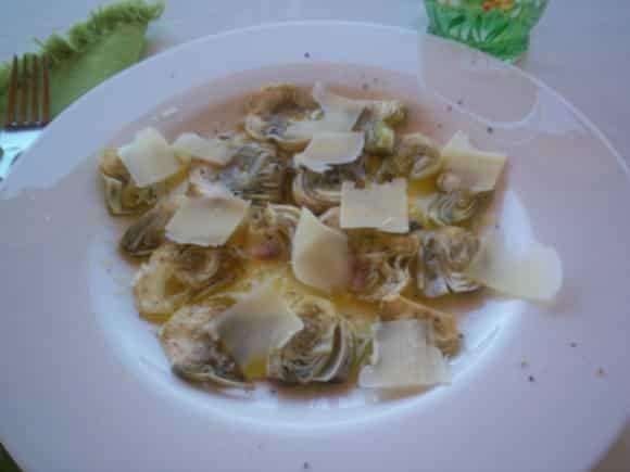 Receta de carpaccio de alcachofas, limón y parmesano