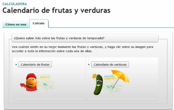 Calendario de frutas y verduras para seguir las estaciones en la cocina