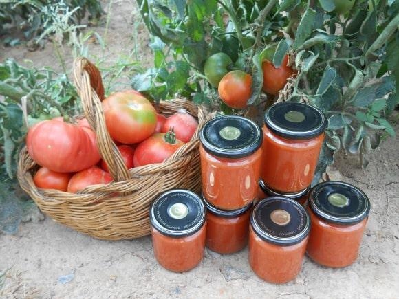 Conserva de tomate frito casero