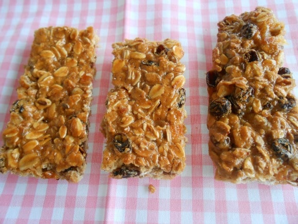 Receta de barritas de muesli y frutos secos