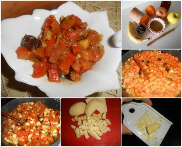 chutney calabaza y frutas