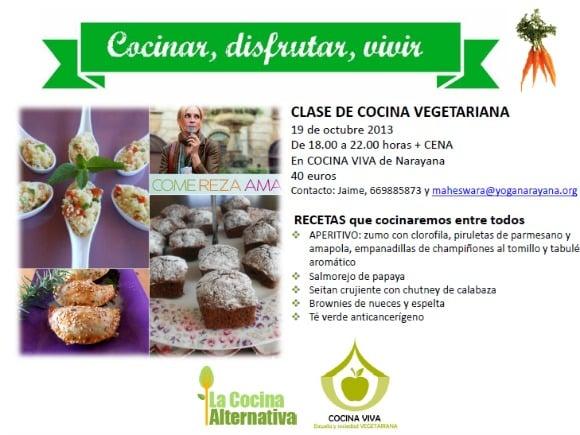 Agenda la cocina alternativa for Cursos de cocina gratis por internet