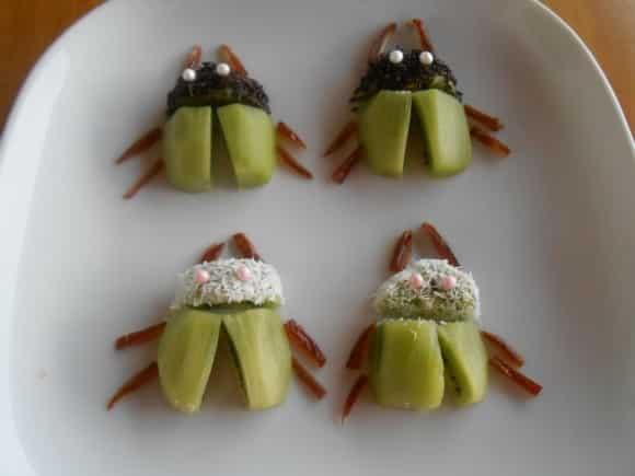 """Receta de """"escarabajos"""" de kiwi"""
