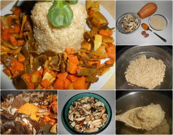 moldede quinoa a la curcuma