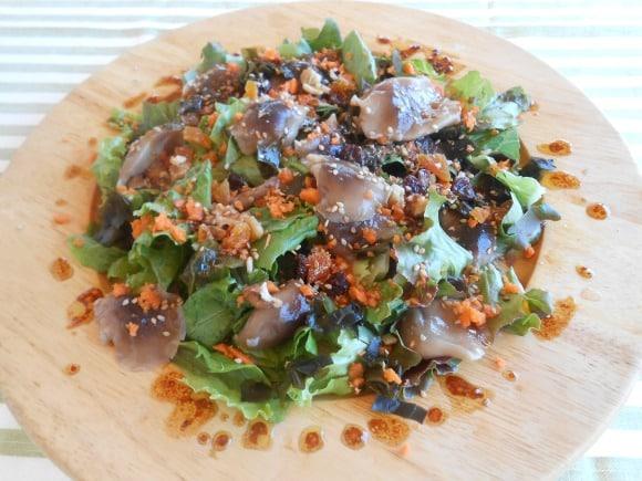 ensalada con shiitake