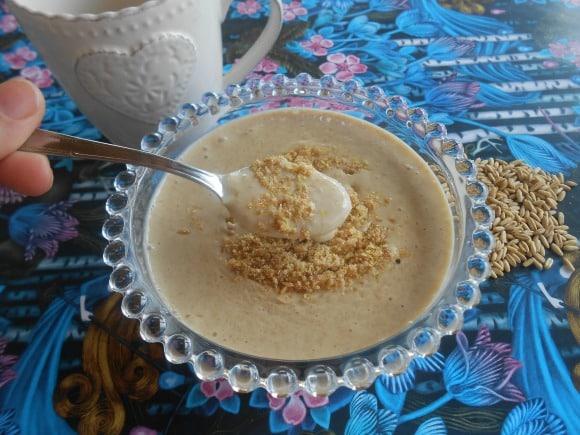 Receta de desayuno de avena con semillas y canela anticancerígeno