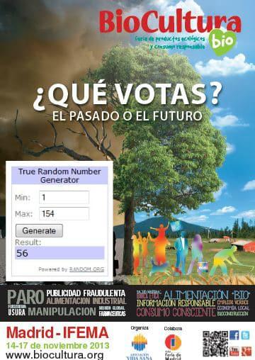 Ganadores sorteo Biocultura Madrid 2013 en La Cocina Alternativa