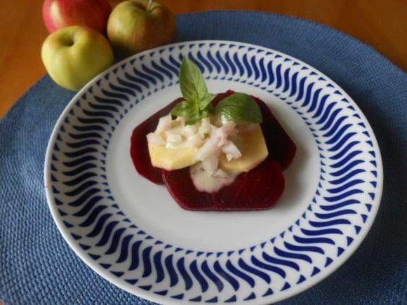 ensalada remolacha y manzanas