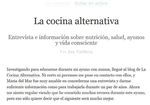 entrevista la cocina alternativa