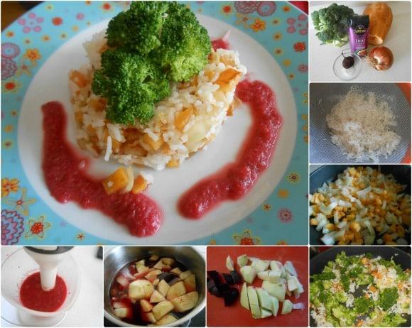 arroz Thai con salsa remolacha