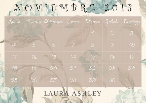 calendario laura ashley nov 2013