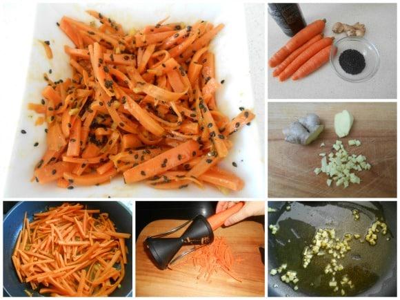 zanahorias con sésamo