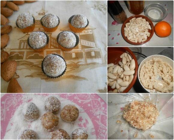 trufas almendras y coco
