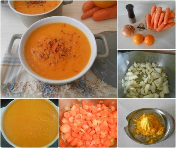 crema zanahorias