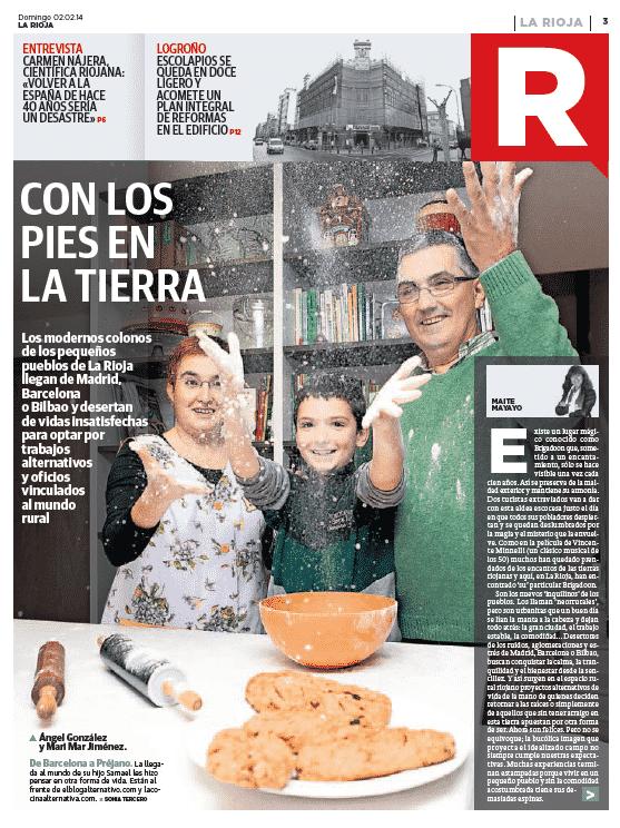Con los pies en la tierra: estos somos nosotros en el periódico La Rioja junto a más neorrurales