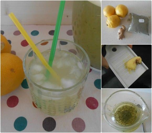 limonada jengibre stevia