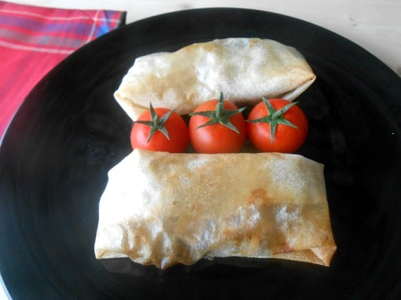 Receta de rollitos de setas, manzana y tofu