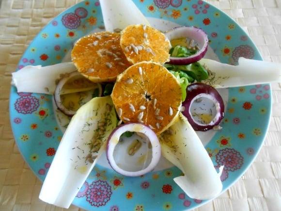 ensalada naranjas