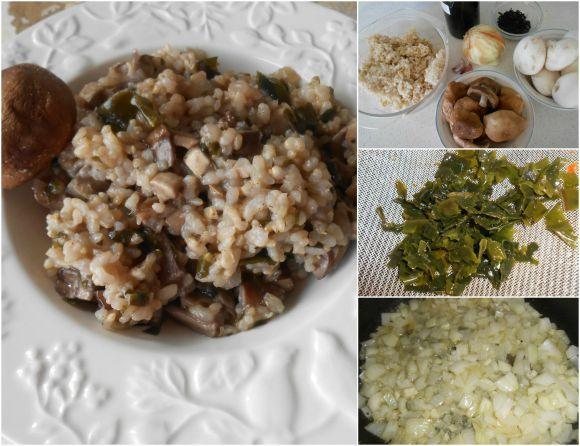 arroz shiitake pasos