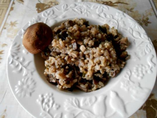 arroz shiitake
