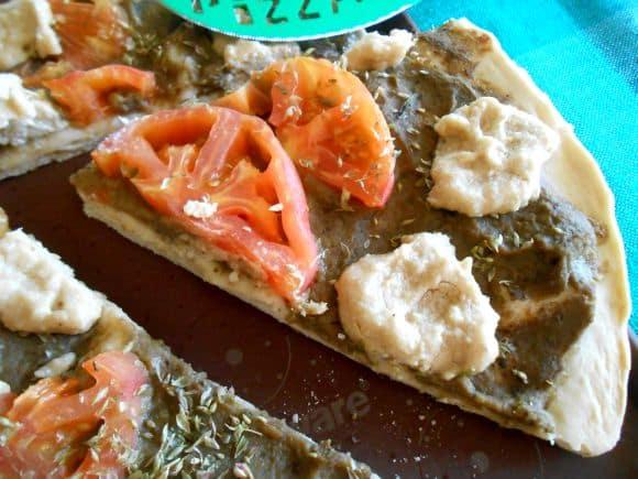pizza berenjena anacardos