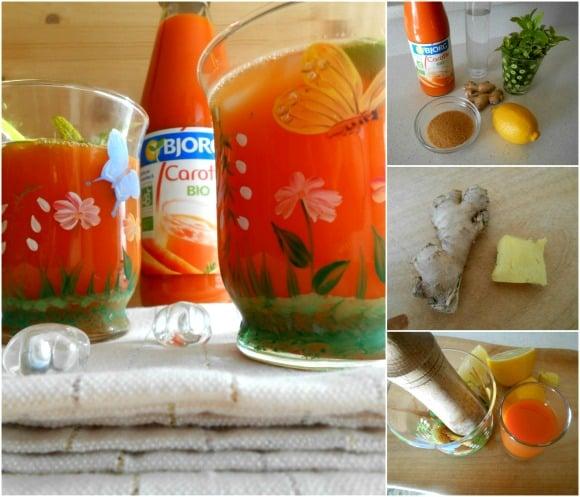 coctel de zanahoria pasos
