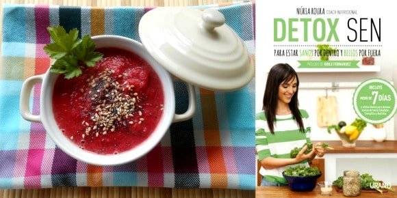 Receta de crema detox  de remolacha y laurel de Nuria Roura