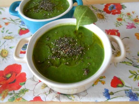 Receta de sopa fría de clorofila
