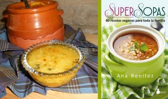 sopa quinoa con libro