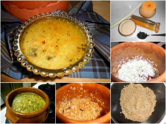 sopa quinoa pasos