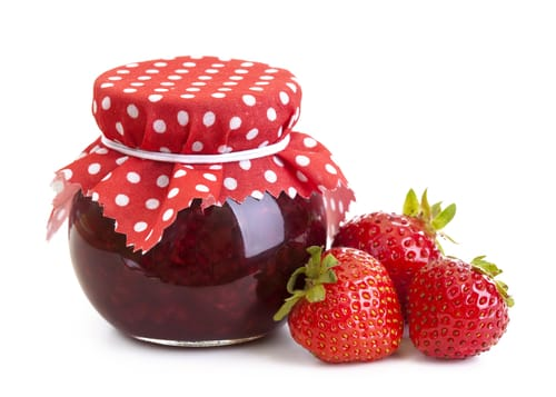 Strawberry jam and fresh berries