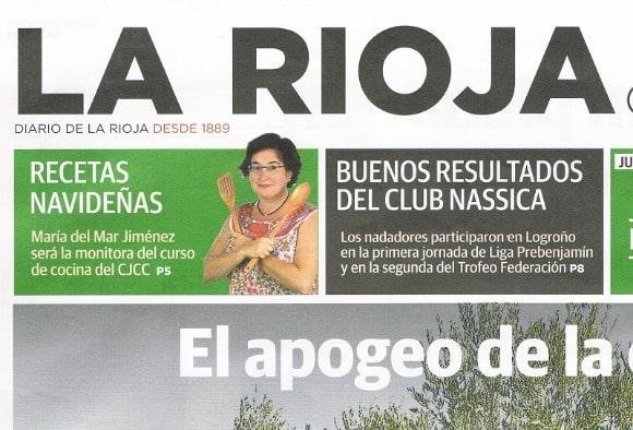 """""""¡Varias mujeres cocinando en armonía y bien organizadas podemos elaborar el menú de una boda!"""" Entrevista en el periódico La Rioja"""