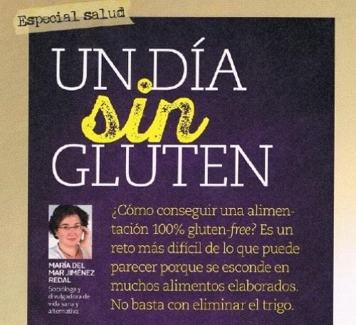 """MENOS GLUTEN, más felicidad: mi artículo en la revista """"Mente Sana"""""""