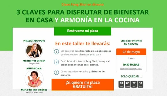 cartel webinar fengshui bienestar y armonia cocina_anfitriona