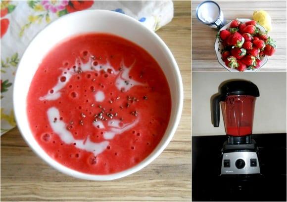 sopa fresas pasos