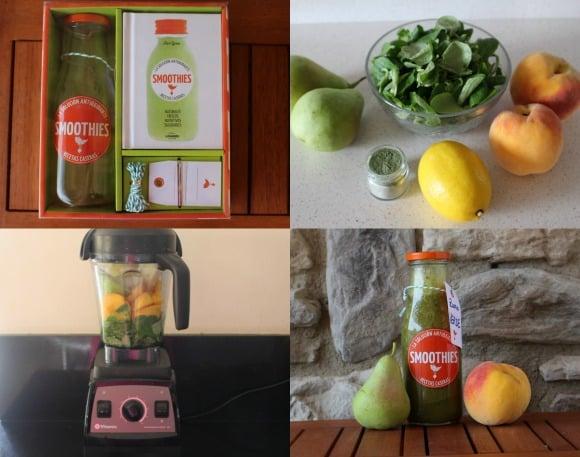 smoothie verde -pasos