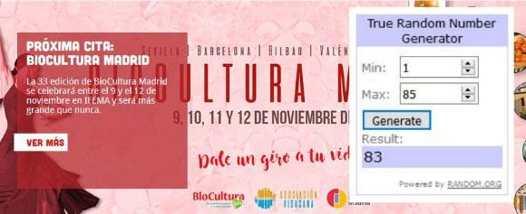 Ganadores sorteo Biocultura Madrid 2017