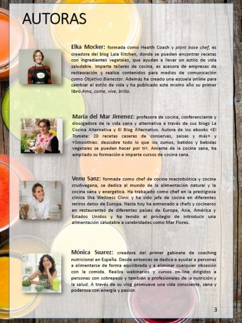 batidos verdes contra el cancer - autoras