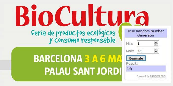Ganadores del sorteo de 20 entradas dobles para Biocultura Barcelona 2018