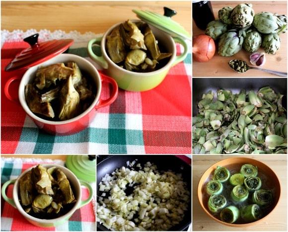 receta de alcachofas guisadas con un toque agridulce