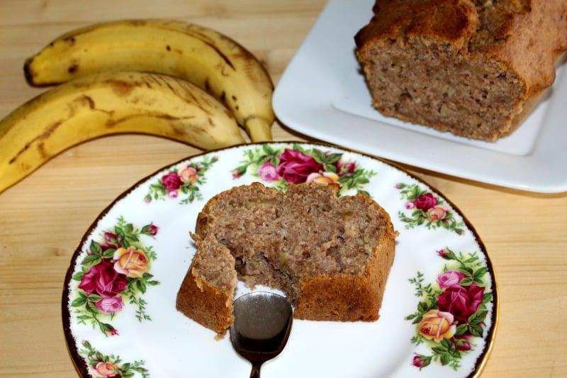 Receta de bizcocho de plátano y nueces sin azúcar