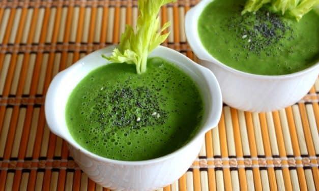 Receta de gazpacho verde detox